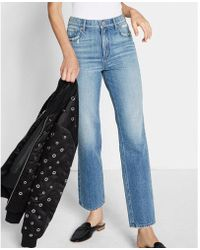 Express - High Waisted Straight Ankle Jeans - Lyst