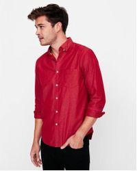 Express - Slim Soft Wash Button Down Shirt - Lyst