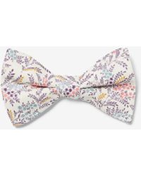 Express Small Floral Liberty Fabric Cotton Bow Tie Pink