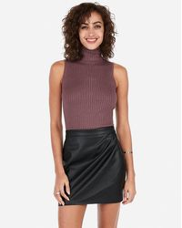 Express Sleeveless Turtleneck Sweater Purple Xxs Petite