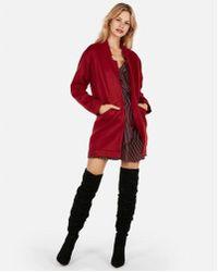 Express - Oversized Tailored Knit Blazer - Lyst