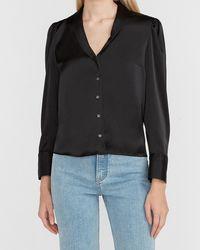 Express Satin Pyjama Shirt Pitch Black