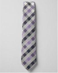 Express - Narrow Silk Plaid Tie - Lyst
