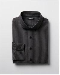 Express - Classic Striped Cotton Button-down Dress Shirt - Lyst