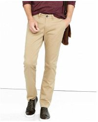Express | Skinny Fit Flex Stretch Light Brown Chino Pant | Lyst