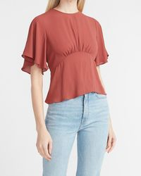 Express Cinched Waist Top - Multicolor