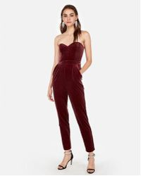 a8a3ff4d014d Missguided Sweetheart Neckline Bandeau Jumpsuit Navy in Blue - Lyst