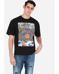 Express New York Knicks Nba Heavyweight Graphic T-shirt Black Xs