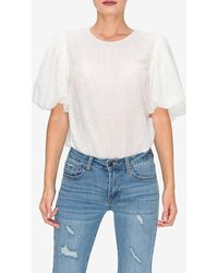 Express Endless Rose White Puff Sleeve Blouse White L