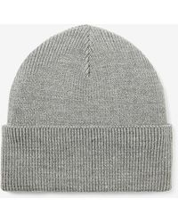 Express Ribbed Turnback Beanie - Gray