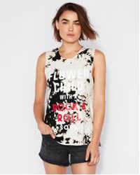 Express - Flower Child Acid Wash Muscle Tank - Lyst