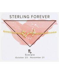 Express Sterling Forever Stars Align Gold Scorpio Constellation Bolo Bracelet Gold - Metallic