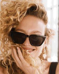Express Angular Frame Sunglasses Black