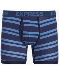 Express Striped Boxer Briefs - Blue