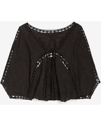 Express Lace Embroidered Kimono Cover-up Black