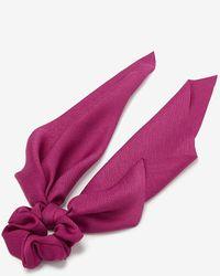Express Textured Hair Scarf - Purple