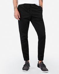 Express - Woven Joggers Black - Lyst