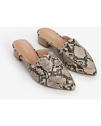 Express Textured Slide Loafers Neutral Print - Multicolor