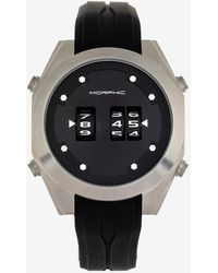 Express Morphic M76 Series Drum-roll Strap Watch Silver - Metallic
