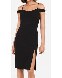 Express Cold Shoulder Dress Black