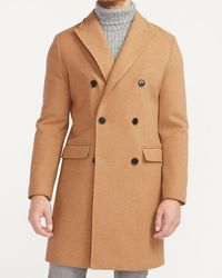Express Khaki Double Breasted Water-resistant Wool-blend Trench Coat - Natural