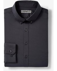 Express Extra Slim Button-down Wrinkle-resistant Performance Dress Shirt Black Xs