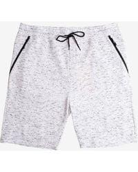 Express Brooklyn Cloth Space Dye Slant Zip Pocket Short - Big & Tall White Xxxxl