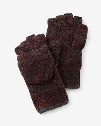 Express - Marled Wool Blend Flip Top Gloves - Lyst