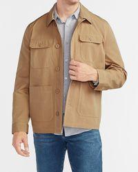 Express Khaki Water-resistant Chore Jacket - Natural