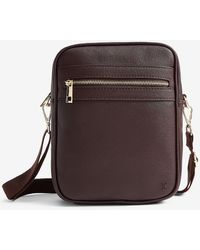 Express Faux Saffiano Leather Tote Bag - Brown