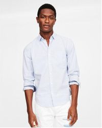 Express - Classic Soft Wash Striped Button Collar Shirt - Lyst