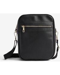 Express Faux Saffiano Leather Tote Bag - Black