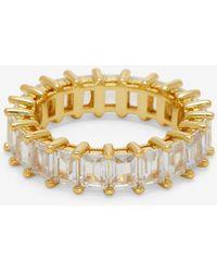 Express Luv Aj Emerald Ballier Ring Gold 6 - Metallic