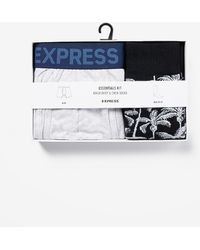 Express Boxer Briefs And Socks Gift Set Blue S