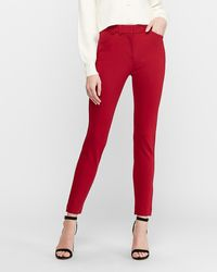 Express High Waisted Skinny Pant Dark Red