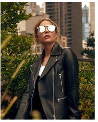 Express Privé Revaux The Parisian Sunglasses - Metallic