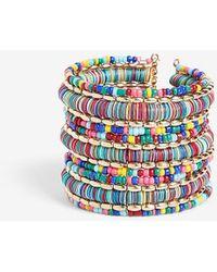 Express Beaded Sequin Cuff Bracelet - Multicolour