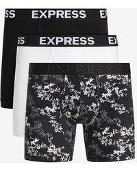 Express Floral Boxer Briefs Black L