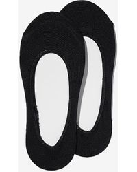 Express Two Pack Solid No-show Socks Black