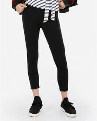 Express - Sexy Stretch Cropped Leggings Black - Lyst