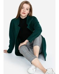 Express - Oversized Tailored Knit Business Blazer Green - Lyst