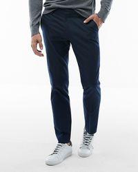 Express Extra Slim Navy Cotton Blend Stretch Suit Pants Blue W29 L30