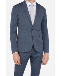 Express - Big & Tall Extra Slim Blue Stripe Wrinkle-resistant Stretch Suit Jacket Blue 46 Short - Lyst