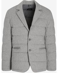 Express Gray Quilted Blazer