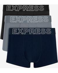 Express 3 Pack Moisture-wicking Performance Sport Trunks - Blue