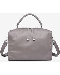 Express Urban Ions Madden Studded Faux Leather Satchel Grey