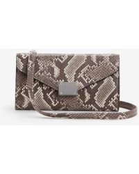 Express Snakeskin Print Chain Strap Wallet - Multicolour