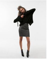 Express - Petite High Waisted Seamed Pencil Skirt - Lyst