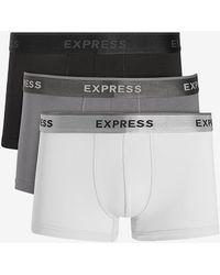 Express 3 Pack Grey Supersoft Sport Trunks Black Xs