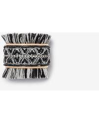 Express Seed Bead Fringe Cuff Bracelet - Black
